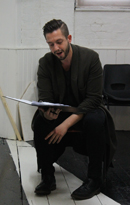 Nadeem Crowe in a music rehearsal for Jennifer Whyte's show Silent Night