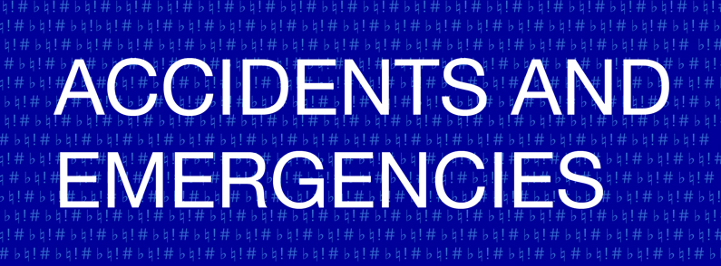 Accidents and Emergencies show logo